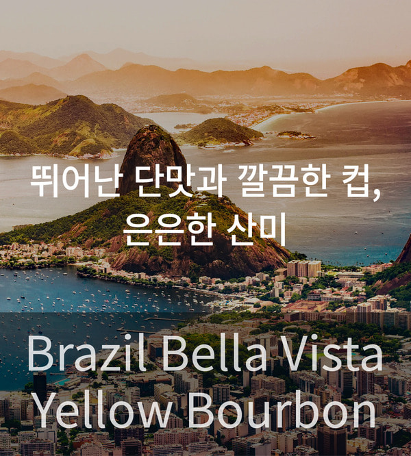 [원두] 원두커피 - Brazil Bella Vista Yellow Bourbon 5kg